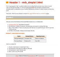 mrb_simpleHTML1 template