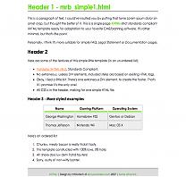 mrb_simpleHTML2 template