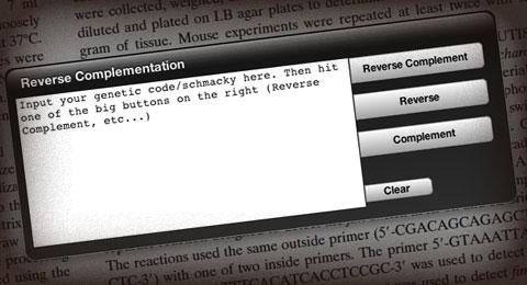 Reverse Complementation Dashboard Widget