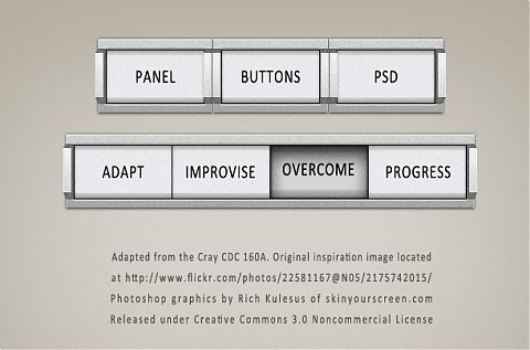 Panel Buttons, Photoshop file