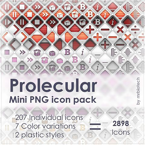 Prolecular mini PNG icon pack preview